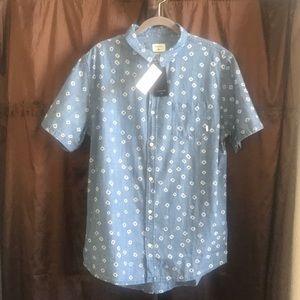 Men's Watermark Short Sleeved Button-up Shirt